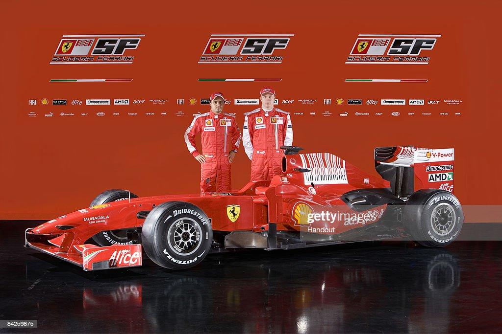 Ferrari F60 Formula One 2009 Season Car Is Launched : News Photo