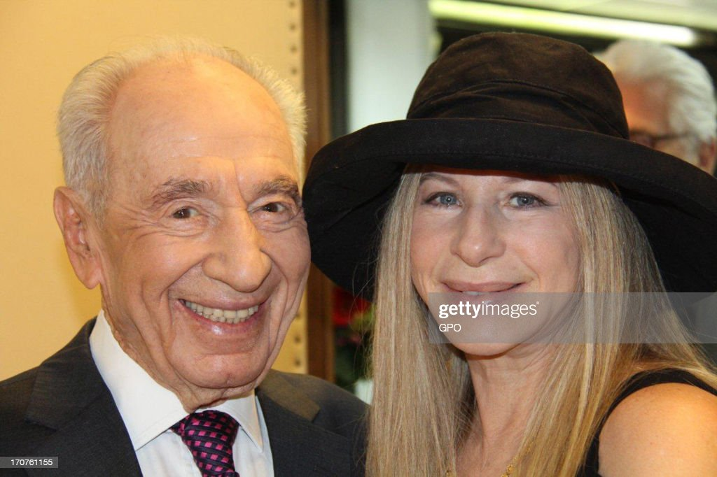 Barbra Streisand Attends Make-A-Wish Foundation Event In Jerusalem With Shimon Peres