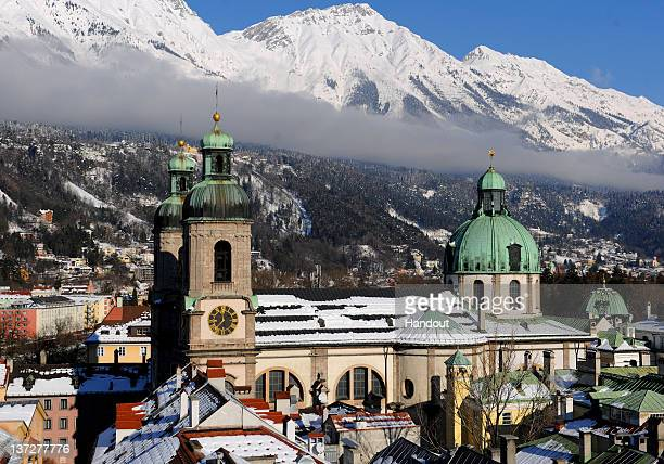 In this handout image supplied by the IOC A general view of the host city prior to the 2012 Winter Youth Olympic Games on January 11 2012 in...