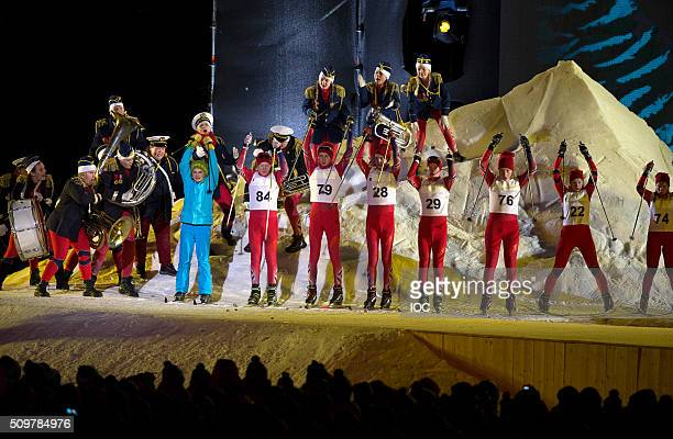 In this handout image supplied by the IOC Performers during the Opening Ceremony of the Lillehammer 2016 Winter Youth Olympic Games at the...