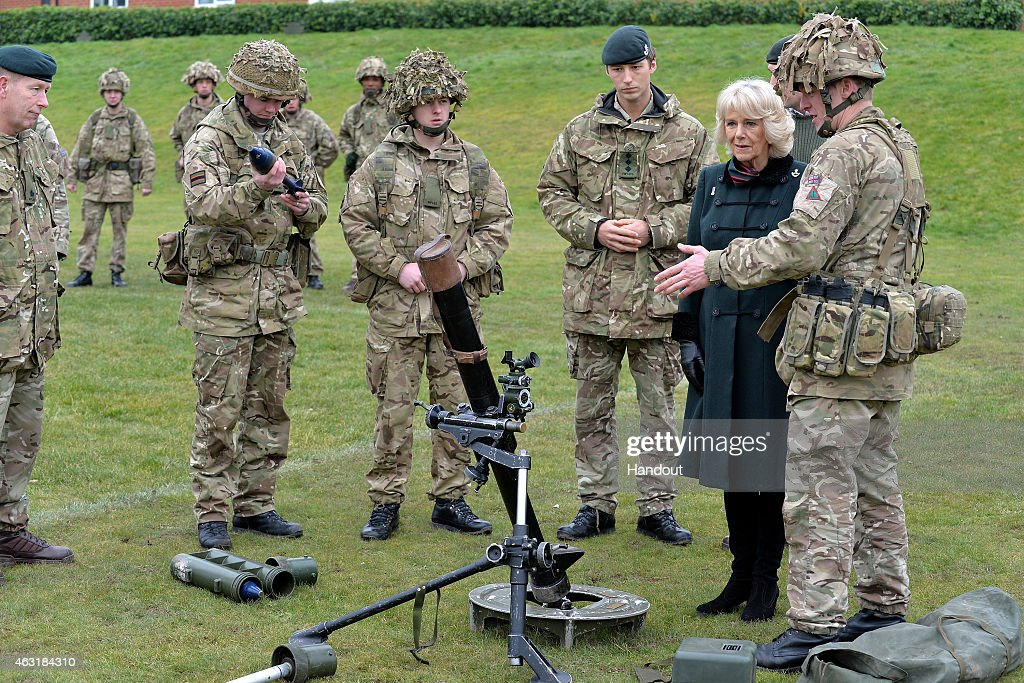 The Duchess Of Cornwall Visits Bulford Camp : News Photo