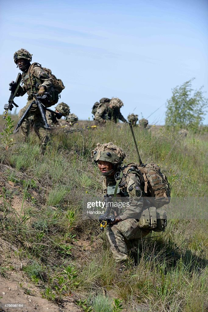 Gurkhas Lead UK Contribution To NATO Exercise In Latvia : News Photo