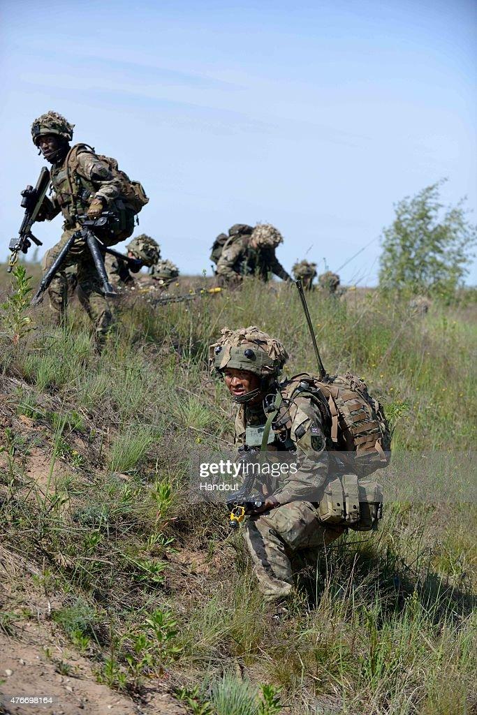 Gurkhas Lead UK Contribution To NATO Exercise In Latvia : ニュース写真