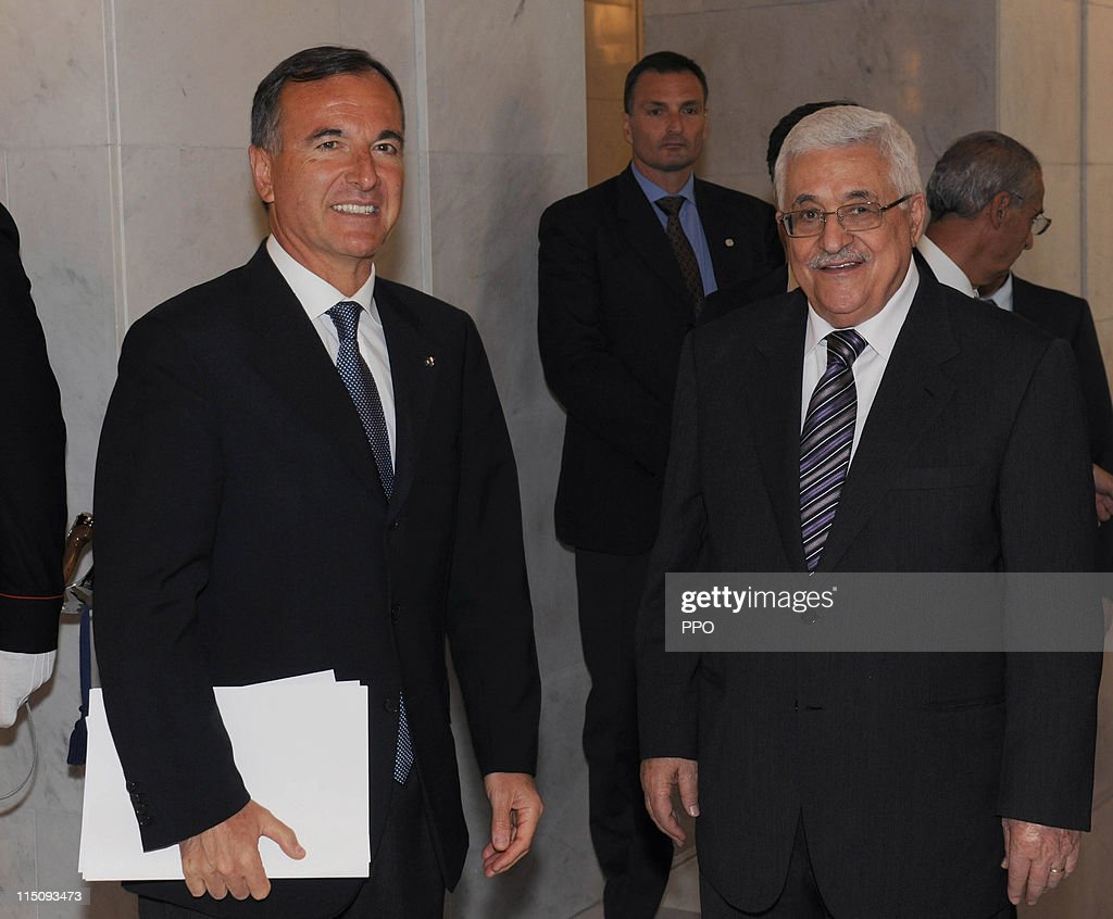 Palestinian President Mahmoud Abbas Meets Pope And Berlusconi In Italy