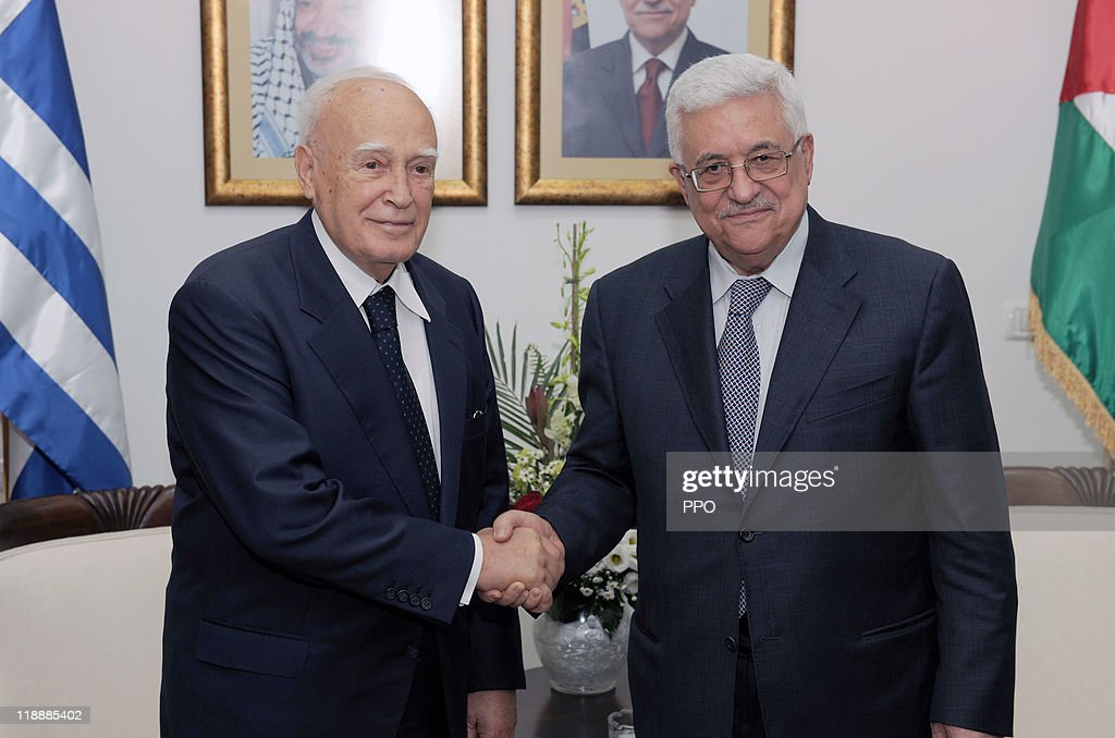 Greek President Karolos Papoulias Visits Israel And Palestinian Territories