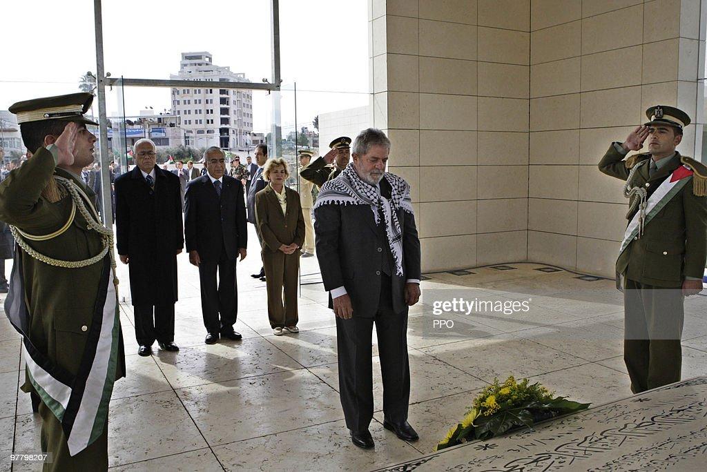 Brazilian President Luiz Inacio Lula Da Silvia Visits Israel : News Photo