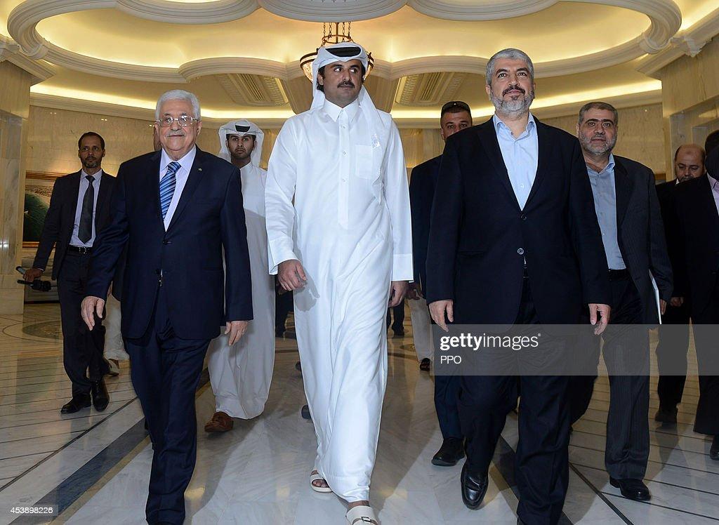 Mahmoud Abbas Visits Qatar : News Photo