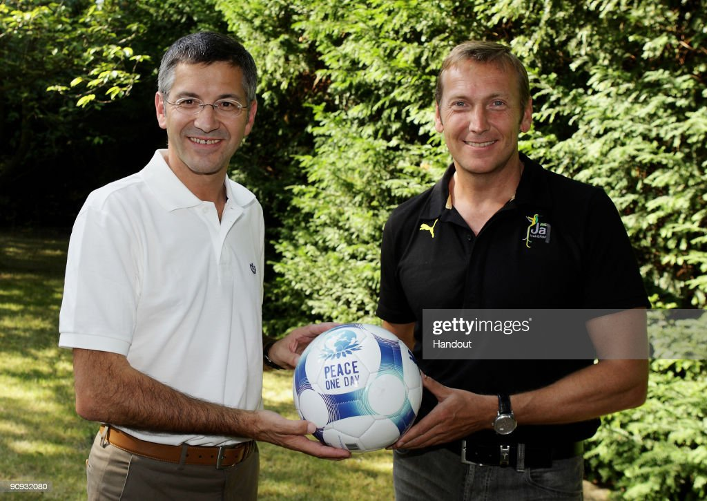 adidas And Puma Rivals Meet In Aid of Peace One Day : News Photo