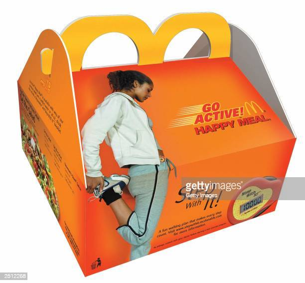 In this handout image the new Go Active Meal by McDonald's an adult version of the Happy Meal is shown in this undated photo McDonald's Corp with the...