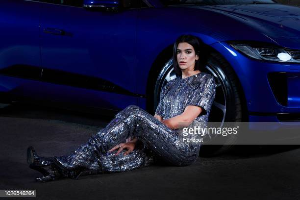 In this handout images provided by Jaguar Jaguar and global superstar singersongwriter Dua Lipa launch pioneering tech and music collaboration with...