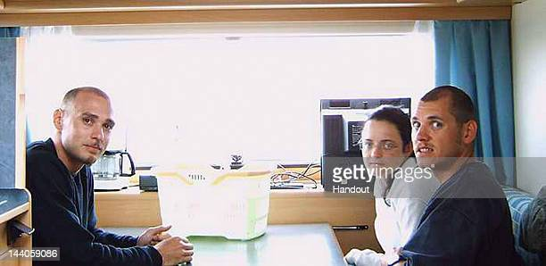 In this handout photo dated 2004 and provided by the German Federal Criminal Police Office neoNazis Uwe Mundlos Uwe Boehnhardt and Beate Zschaepe are...