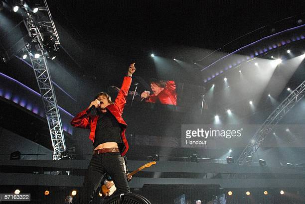 In this handout photo, Keith Richards of the Rolling Stones performs during a concert at the Tokyo Dome on March 22, 2006 in Tokyo, Japan. The group...