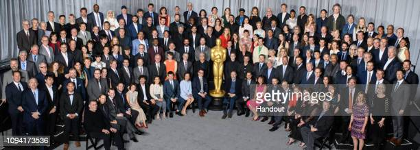 In this handout photo provide by The Academy of Motion Picture Arts and Sciences nominees for the 91st Oscars are celebrated at a luncheon held at...