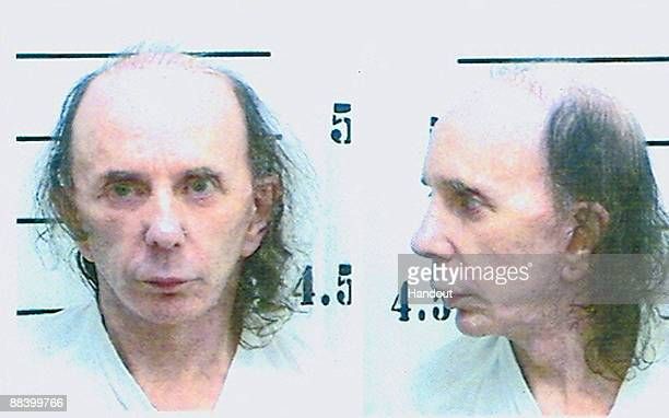 In this handout photo provided be the California Department of Corrections and Rehabilitation inmate Phillip Spector poses for his mugshot photo on...