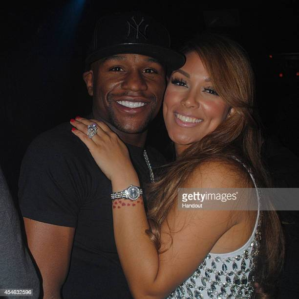 In this handout photo provided by Allred Maroko Goldberg Shantel Jackson exfiancee of boxer Floyd Mayweather Jr is seen with Mayweather Jr Jackson's...