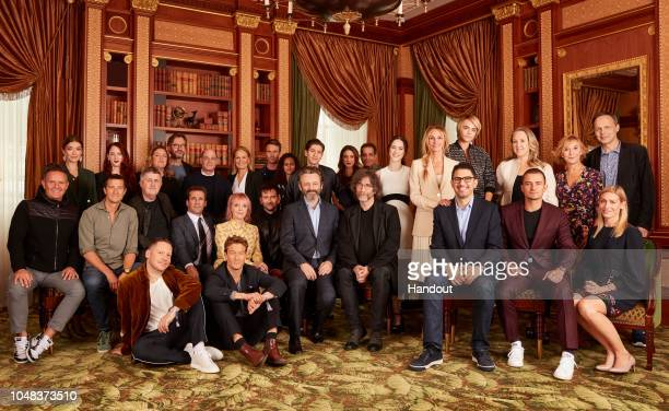 In this handout photo provided by Amazon Studios a unique behindthescenes moment captures the amazing array of stars and creatives behind some of...