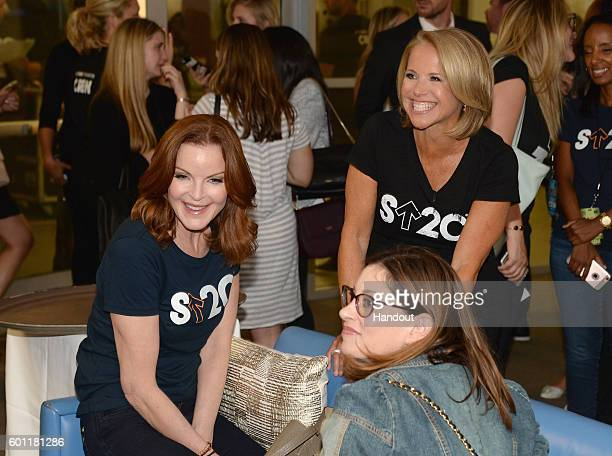 In this handout photo provided by American Broadcasting Companies Inc actress Marcia Cross and Stand Up To Cancer Cofounder Katie Couric attend Stand...