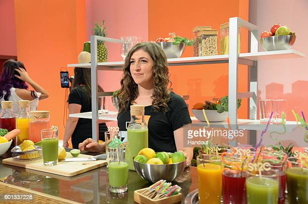 In this handout photo provided by American Broadcasting Companies Inc actress Mayim Bialik attends Stand Up To Cancer a program of the Entertainment...
