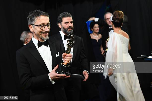 In this handout photo provided by A.M.P.A.S. Best Sound Mixing award winner Mark Taylor poses backstage during the 92nd Annual Academy Awards at the...