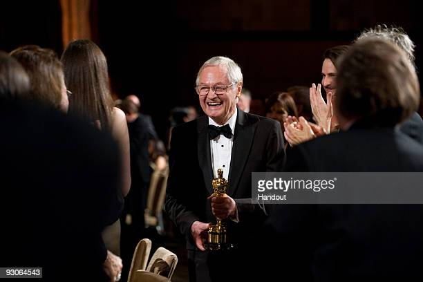 In this handout photo provided by AMPAS Honorary Award recipient Roger Corman accepts his award during the 2009 Governors Awards in the Grand...