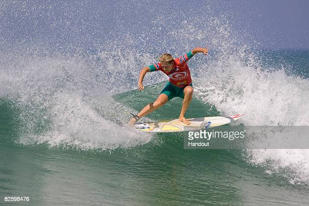 In this handout photo provided by ASP and Covered Images Stephanie Gilmore of Australia competes on her way to the final in the ASP Woman's World...