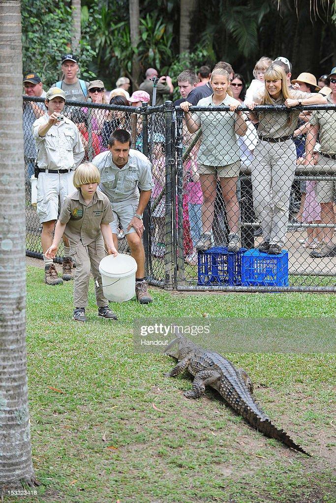 8848c97184b171 Robert Irwin Feeds Freshwater Crocodiles At Australia Zoo   News Photo
