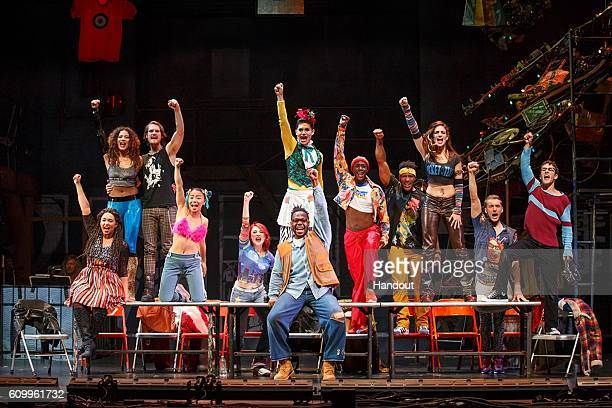 In this handout photo provided by Broadway Across America The Company performs during the RENT 20th Anniversary Tour September 14 2016 Performances...