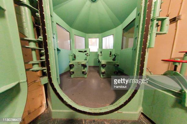 In this handout photo provided by California Department of Corrections and Rehabilitation San Quentin's death row gas chamber is shown after being...