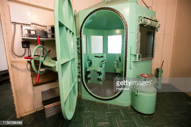 In this handout photo provided by California Department of Corrections and Rehabilitation San Quentin's death row gas chamber is shown before being...
