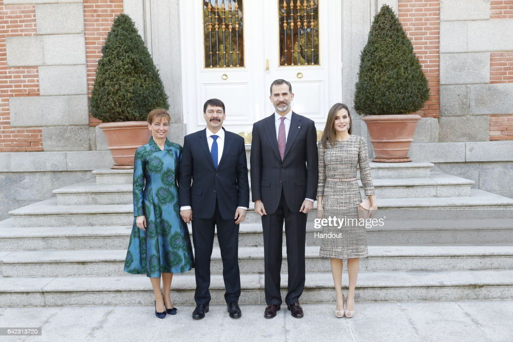 Spanish Royals Official Lunch With Hungarian President