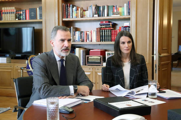 ESP: Spanish Royals Meet Sport Entities On Video Conference