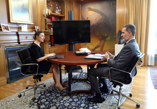 ESP: King Felipe VI Of Spain Receives Minister Of Labour And Social Economy Yolanda Diaz
