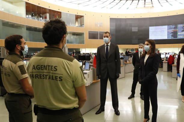ESP: Spanish Royals Vists 112 Emergency Center