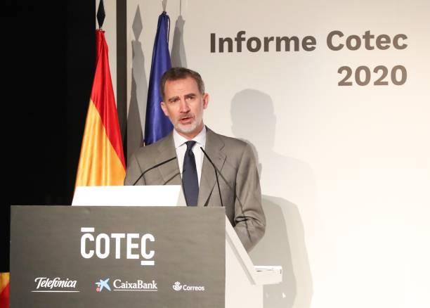 ESP: Spanish Royals Meet COTEC Foundation