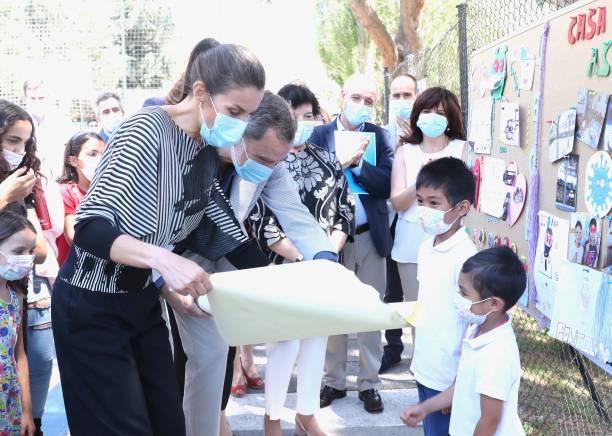 ESP: Spanish Royals Visit NGO 'Aldeas Infantiles'