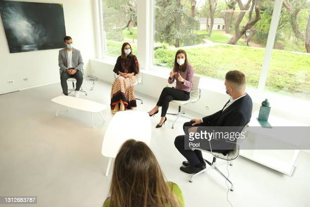 In this handout photo provided by Casa de S.M. El Rey Spanish Royal Household, Queen Letizia of Spain attends the proclamation of the winner of the...