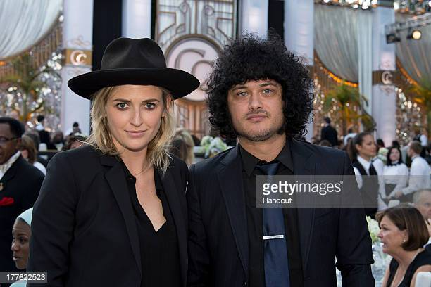 In this handout photo provided by Church of Scientology Emily Armstrong and Cedric BixlerZavala attends the Church of Scientology Celebrity Centre...