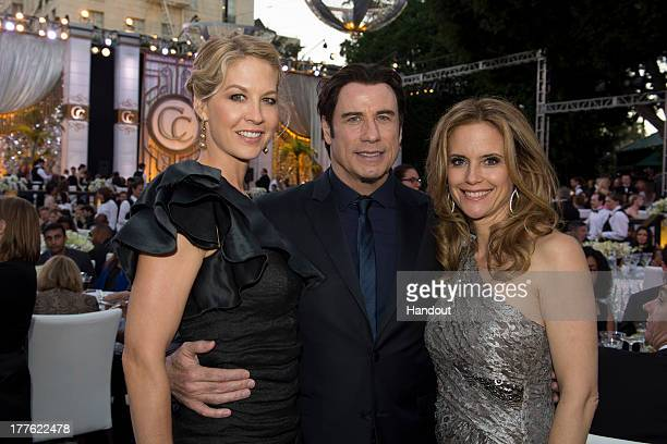 In this handout photo provided by Church of Scientology Jenna Elfman John Travolta and Kelly Preston attend the Church of Scientology Celebrity...