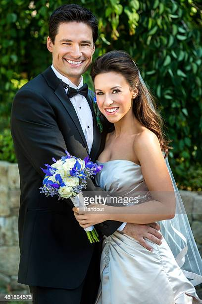 In this handout photo provided by Crown Media Hallmark Movie Channel's The Color of Rain starring Lacey Chabert and Warren Christie and based on the...