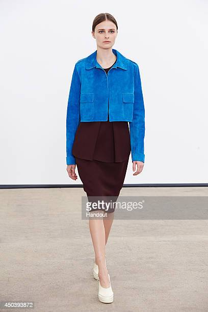 In this handout photo provided by Derek Lam a model poses during the Derek Lam resort 2015 press preview on June 3 2014 in New York City