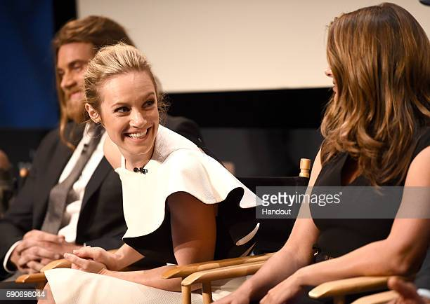 In this handout photo provided by Discovery Actress Danielle Savre speaks onstage at TLC 'Too Close To Home' Screening at The Paley Center for Media...