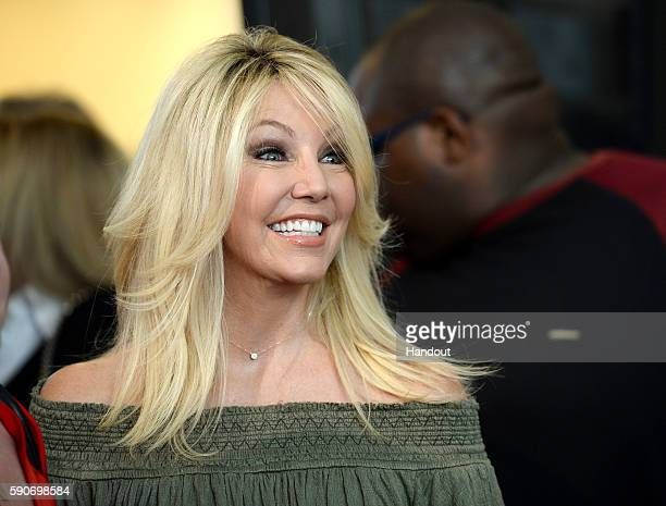 In this handout photo provided by Discovery Actress Heather Locklear attends TLC Too Close To Home Screening at The Paley Center for Media on August...
