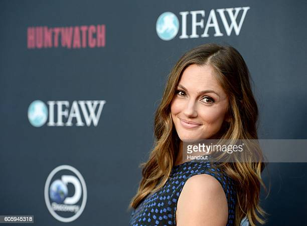 In this handout photo provided by Discovery Actress Minka Kelly attends the Discovery Channel HUNTWATCH screening at NeueHouse Los Angeles on...