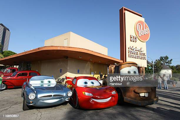 In this handout photo provided by Disney and Pixar British spy Finn McMissile fourtime Piston Cup champion Lightning McQueen and his best pal Mater...