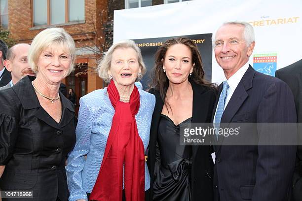 In this handout photo provided by Disney Jane Beshear Penny Chenery Diane Lane and Kentucky Governor Steve Beshear attend the special screening of...