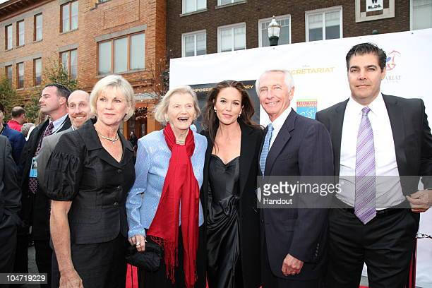 In this handout photo provided by Disney Jane Beshear Penny Chenery Diane Lane Kentucky Governor Steve Beshear and filmmakers and cast attend the...