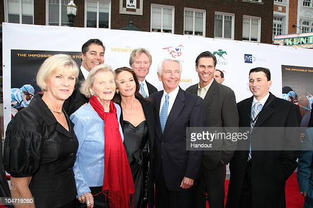 In this handout photo provided by Disney Jane Beshear Penny Chenery Diane Lane Randall Wallace Kentucky Governor Steve Beshear Mark Ciardi and...