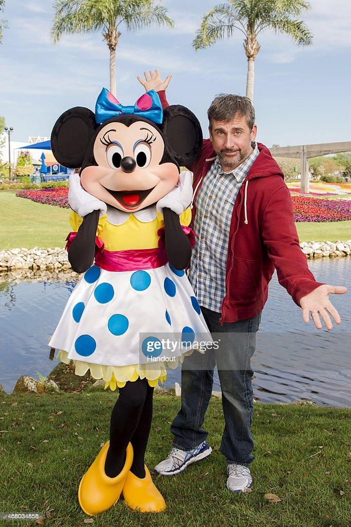 Actor Steve Carell Celebrates Spring At Disney World