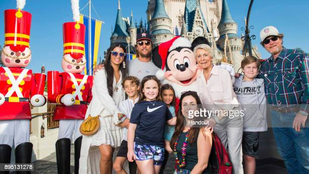 In this handout photo provided by Disney Parks actor Matthew McConaughey his wife/model Camila Alves McConaughey and their children Levi McConaughey...