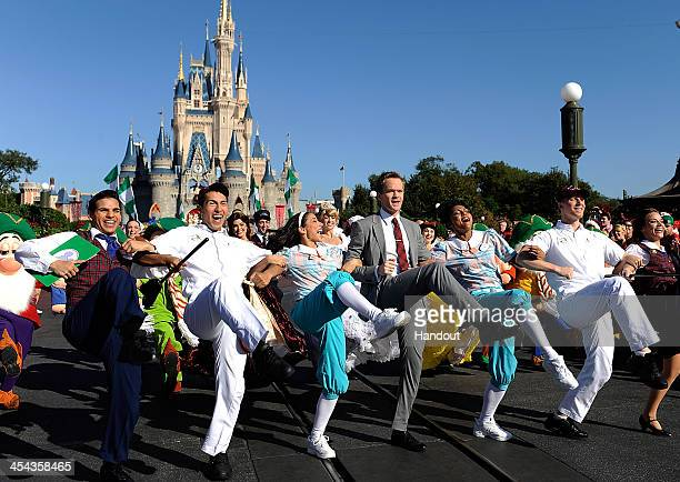 In this handout photo provided by Disney Parks, Actor Neil Patrick Harris hosts and performs in the Disney Parks Christmas Day Parade television...